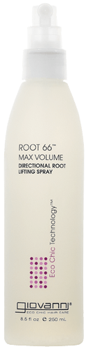 a bottle of giovanni root lifting spray