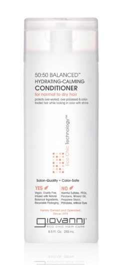 a bottle of Giovanni 50:50 Conditioner