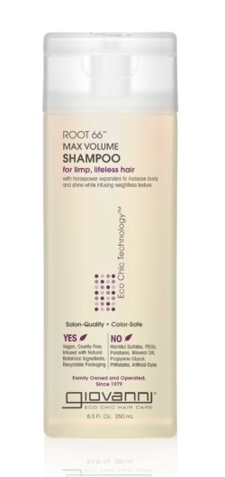 a bottle of ROOT™ 66 sulfate-free volumizing shampoo