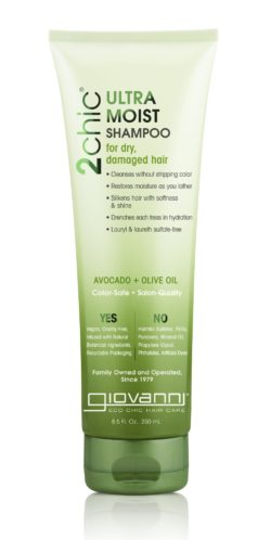 a bottle of Giovanni 2chic® Ultra-Moist Shampoo