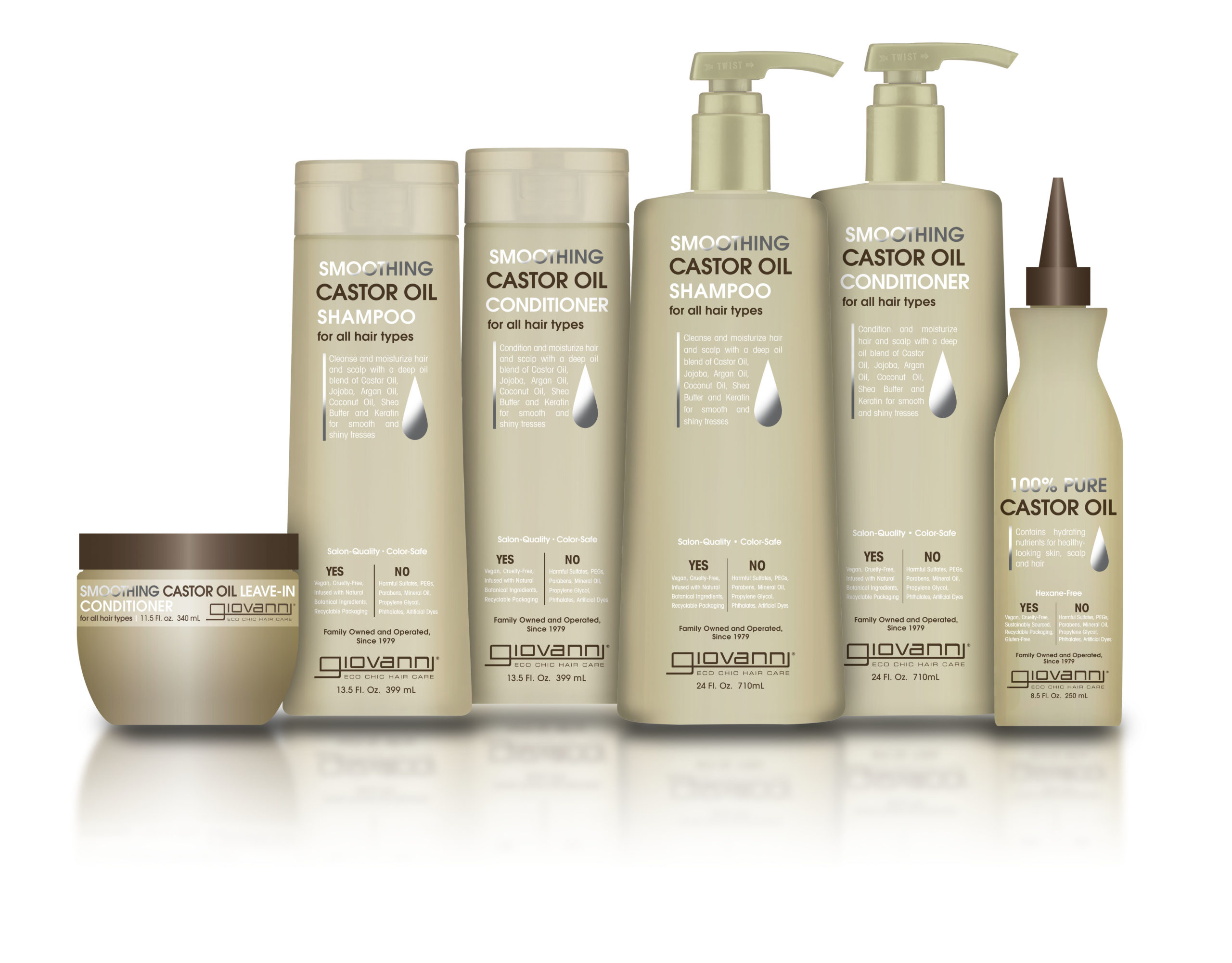 smoothing castor oil product collection